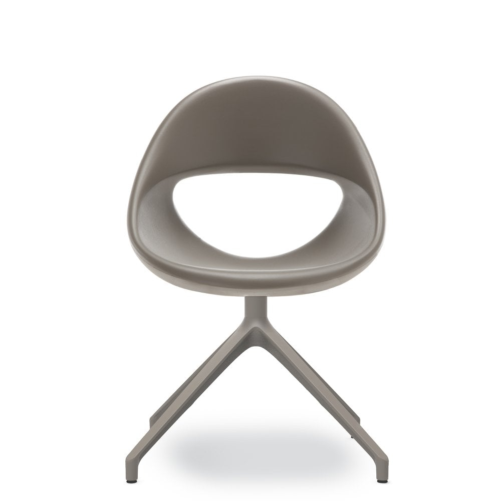 Lucky Swivel Dining Chair – Dark Grey  Glassdomain.co.uk Within Dark Grey Swivel Chairs (Photo 14 of 20)