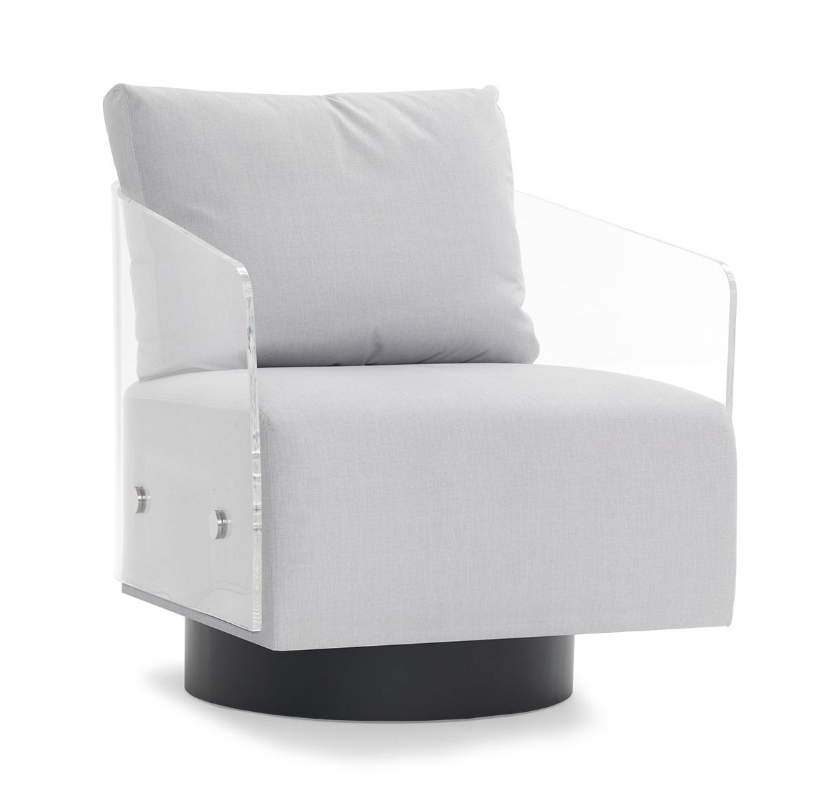 Lucy Clear Full Swivel Chair<Br>[Available Online And In Stores Throughout Lucy Grey Sofa Chairs (Image 3 of 20)