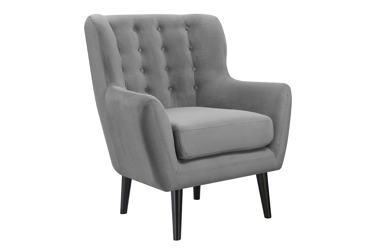 Lucy Gray Accent Chair | New Year's Sale On 500+ Products Throughout Lucy Grey Sofa Chairs (Image 6 of 20)