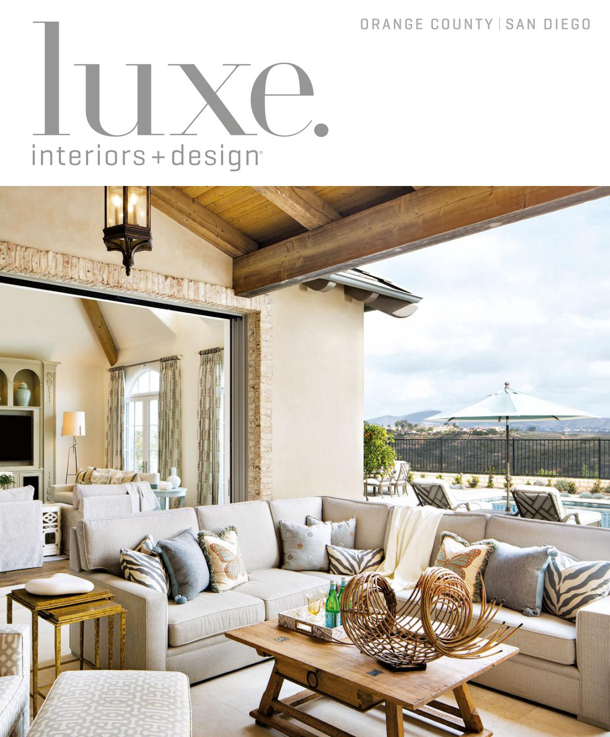 Luxe Magazine March 2017 Orange County/san Diegosandow® – Issuu Intended For Chadwick Tomato Swivel Accent Chairs (View 15 of 20)
