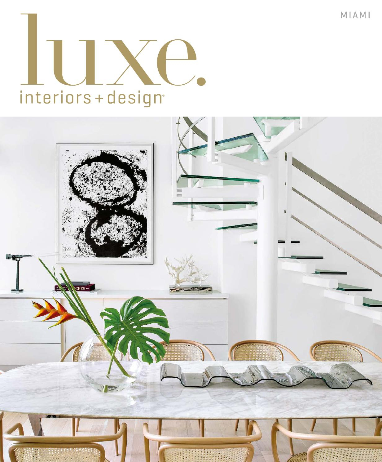 Luxe Magazine November 2015 Miamisandow® – Issuu Intended For Chadwick Tomato Swivel Accent Chairs (View 17 of 20)