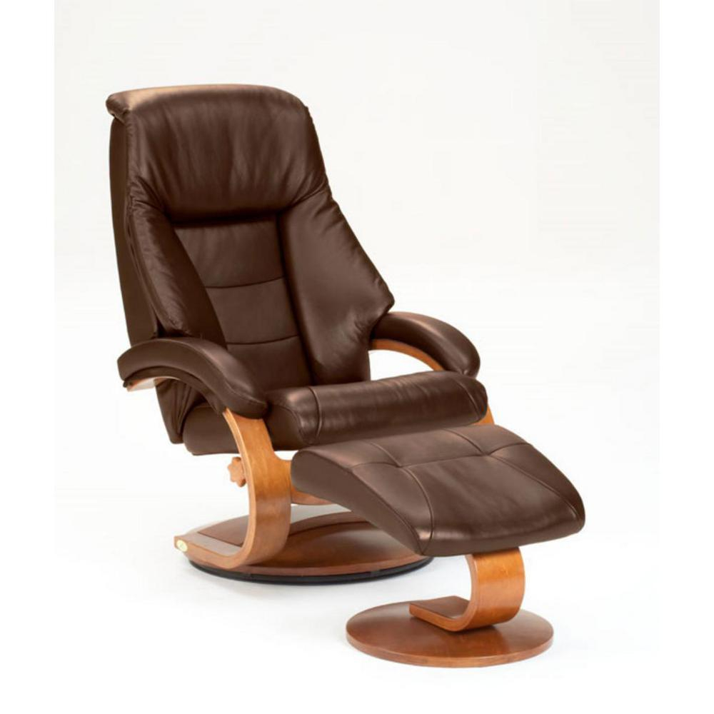 Mac Motion Oslo Collection Espresso Top Grain Leather Swivel Within Espresso Leather Swivel Chairs (Photo 17 of 20)