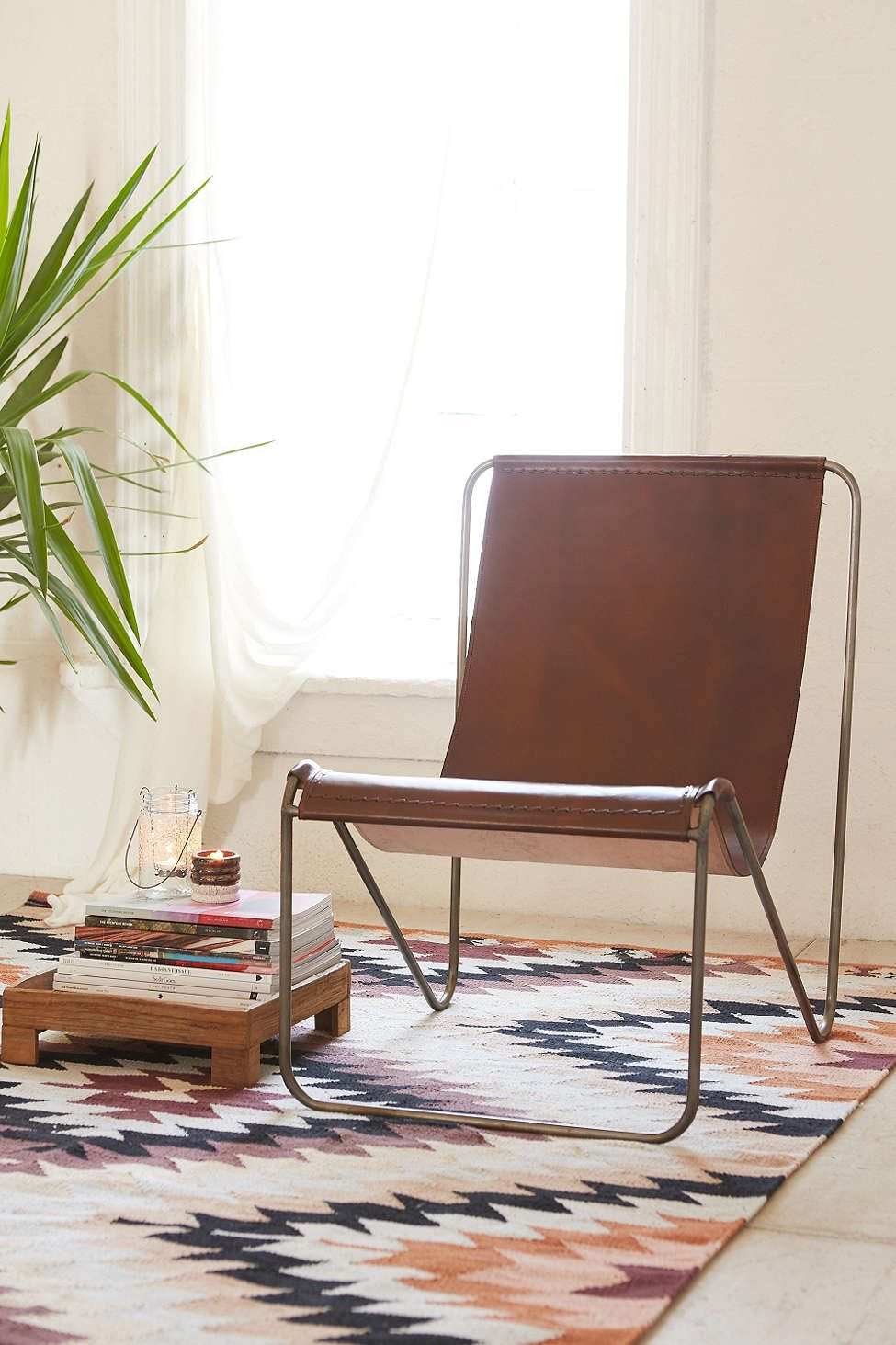 Maddox Leather Sling Chair | Chairs | Pinterest | Chair, Leather With Maddox Oversized Sofa Chairs (Image 8 of 20)
