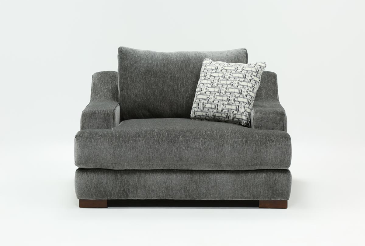 Maddox Oversized Chair | Living Spaces With Sheldon Oversized Sofa Chairs (Photo 3 of 20)