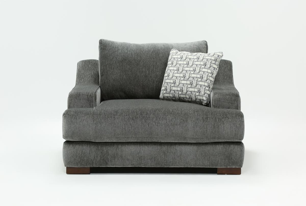 Maddox Oversized Chair | Living Spaces Within Harper Down Oversized Sofa Chairs (Image 10 of 20)