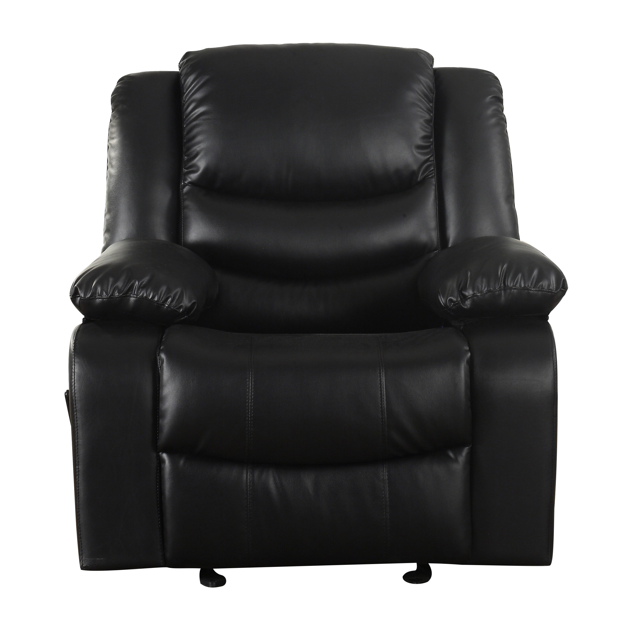 Madison Home Usa Classic Overstuffed Manual Rocker Recliner With Regard To Dale Iii Polyurethane Swivel Glider Recliners (Photo 13 of 20)