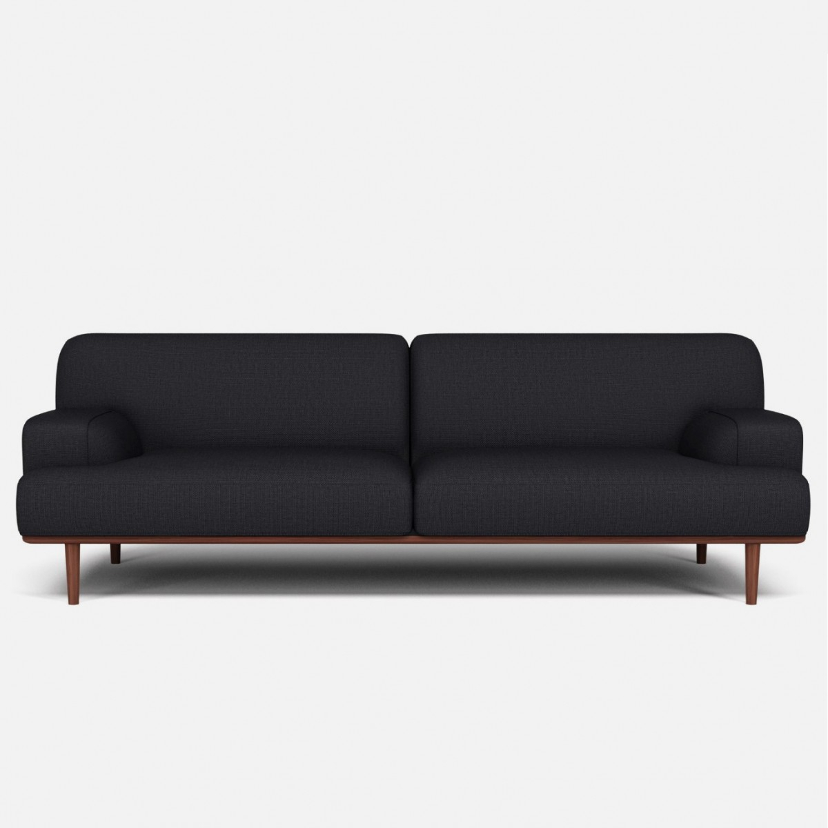 Madison Velvet Sofa 3 Seaters London Dark Grey – Bolia With London Dark Grey Sofa Chairs (Image 13 of 20)