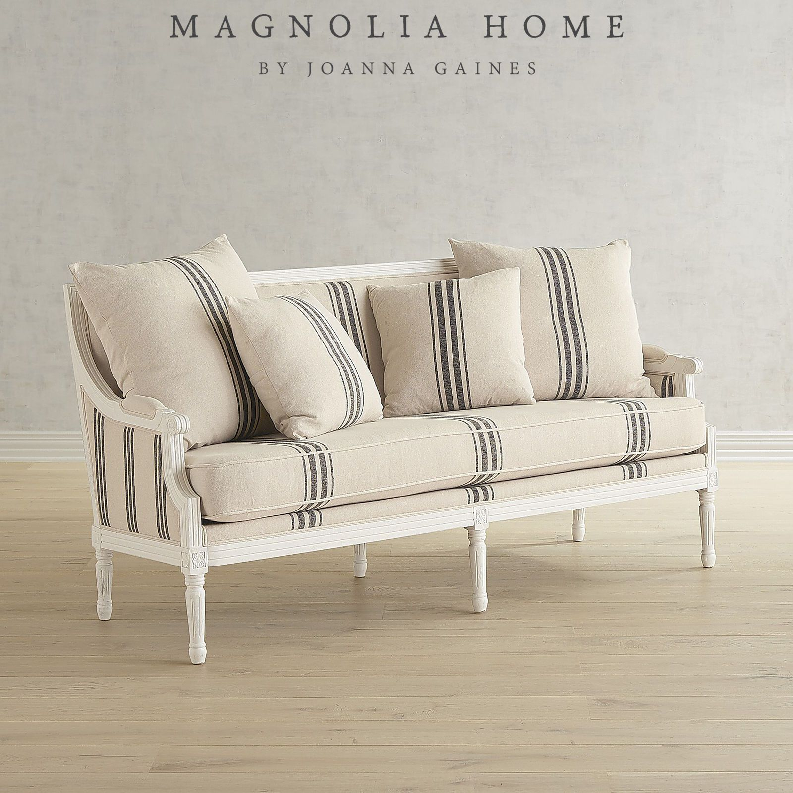 Magnolia Home Parlor White Settee | Pier 1 Imports | Misc (Image 13 of 20)