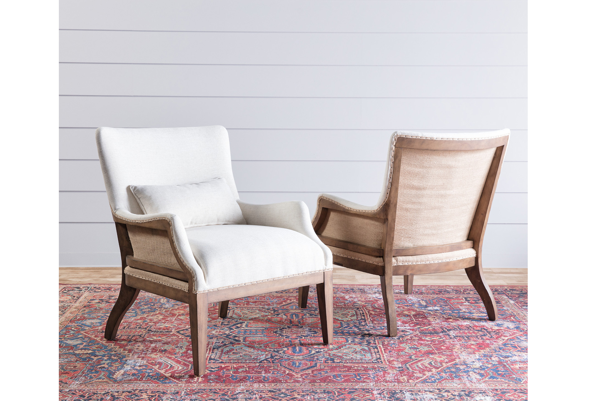 Magnolia Home Renew Ivory Accent Chairjoanna Gaines | Products Pertaining To Magnolia Home Paradigm Sofa Chairs By Joanna Gaines (Photo 11 of 20)