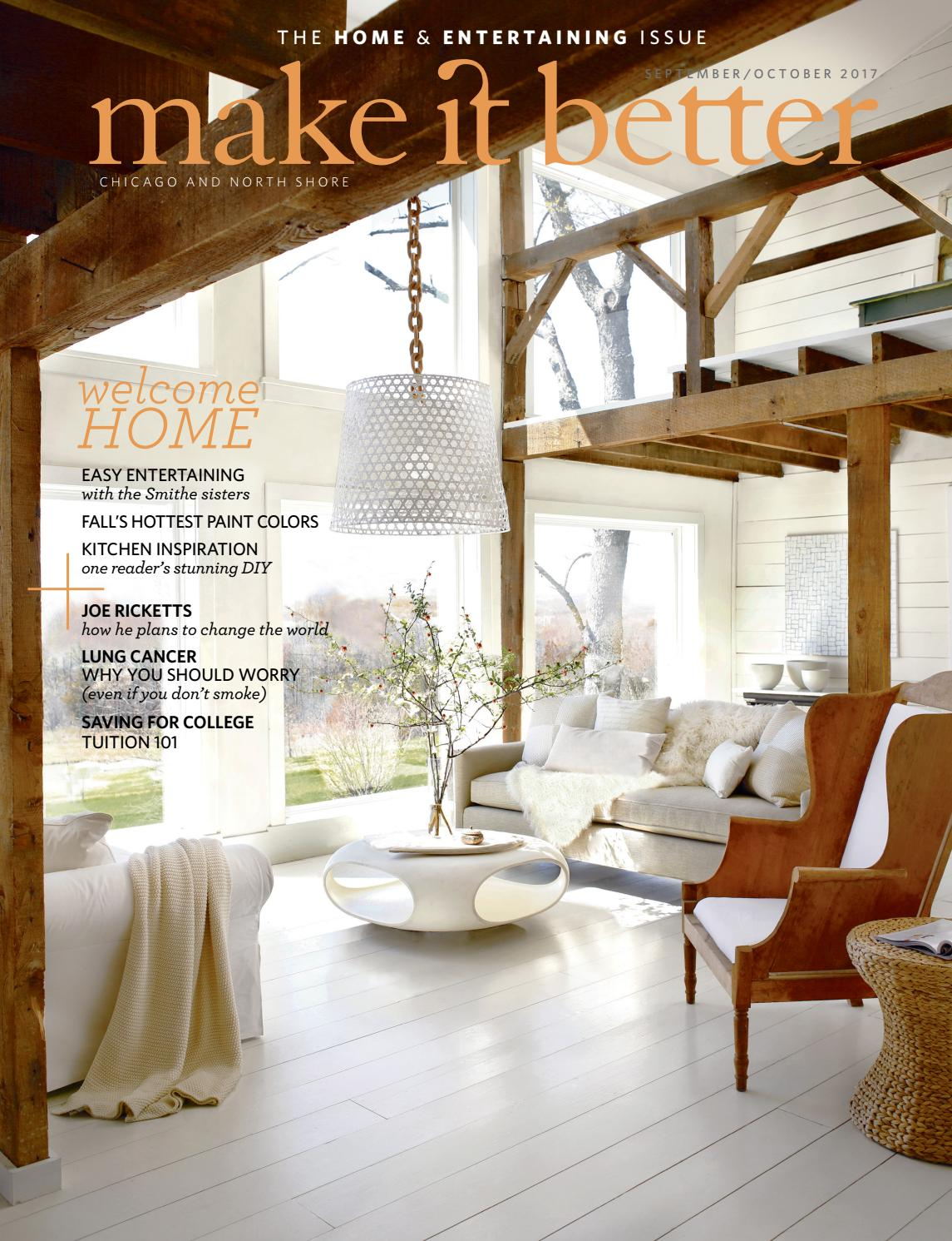Make It Better Sept Oct 2017 Home And Entertaining Issuemake It Within Chadwick Tomato Swivel Accent Chairs (Photo 11 of 20)