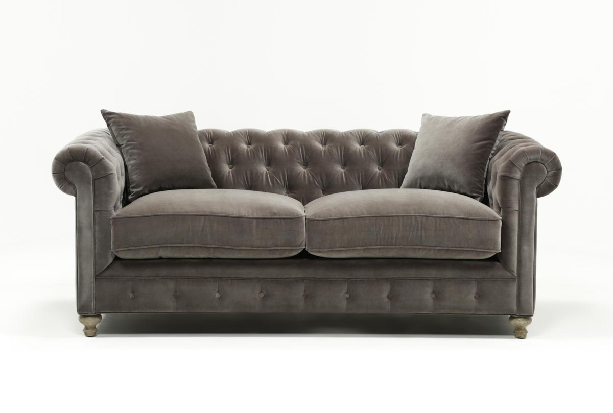 Featured Image of Mansfield Graphite Velvet Sofa Chairs