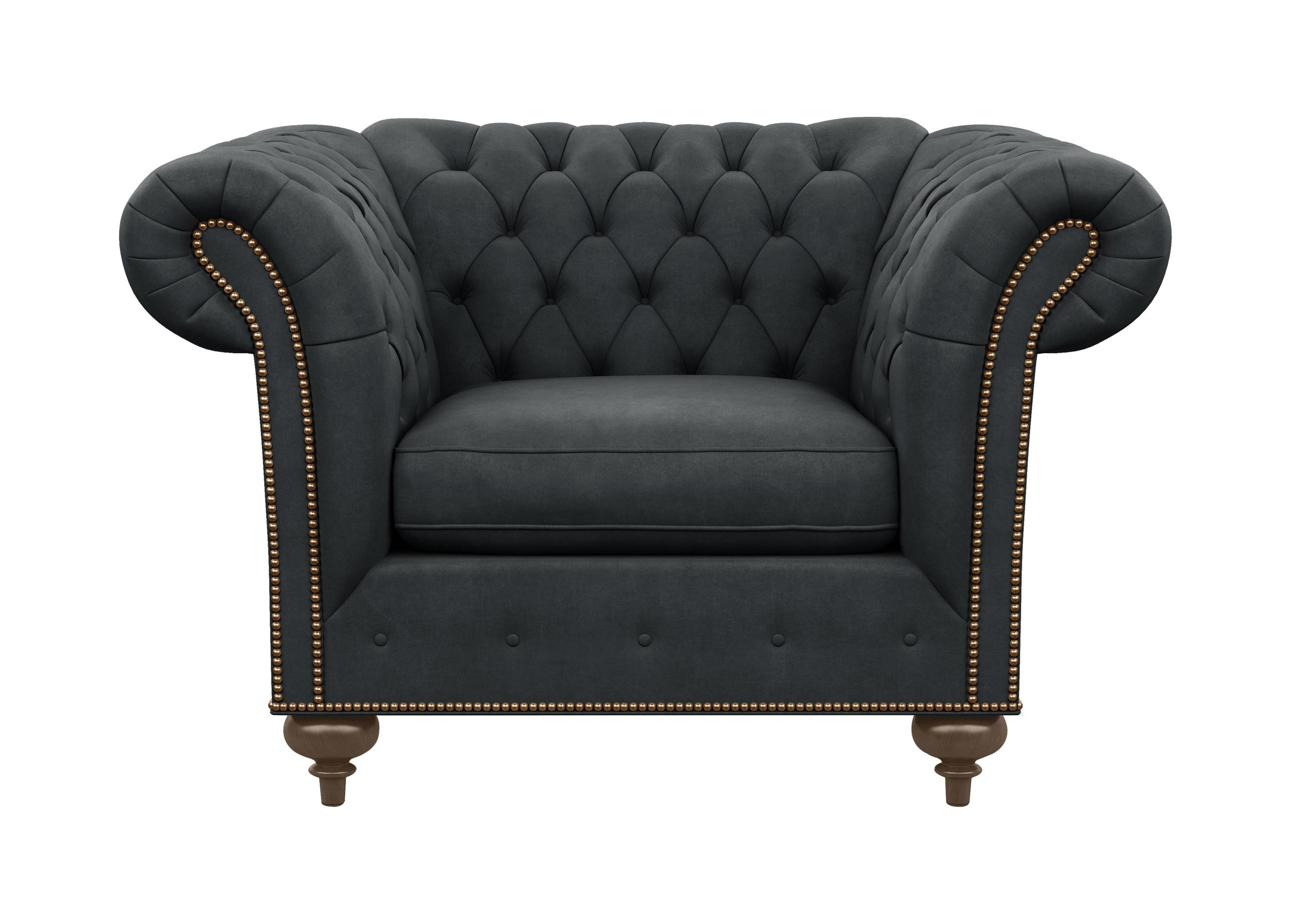 Mansfield Chair | Chairs & Chaises | Ethan Allen In Mansfield Graphite Velvet Sofa Chairs (Image 10 of 20)