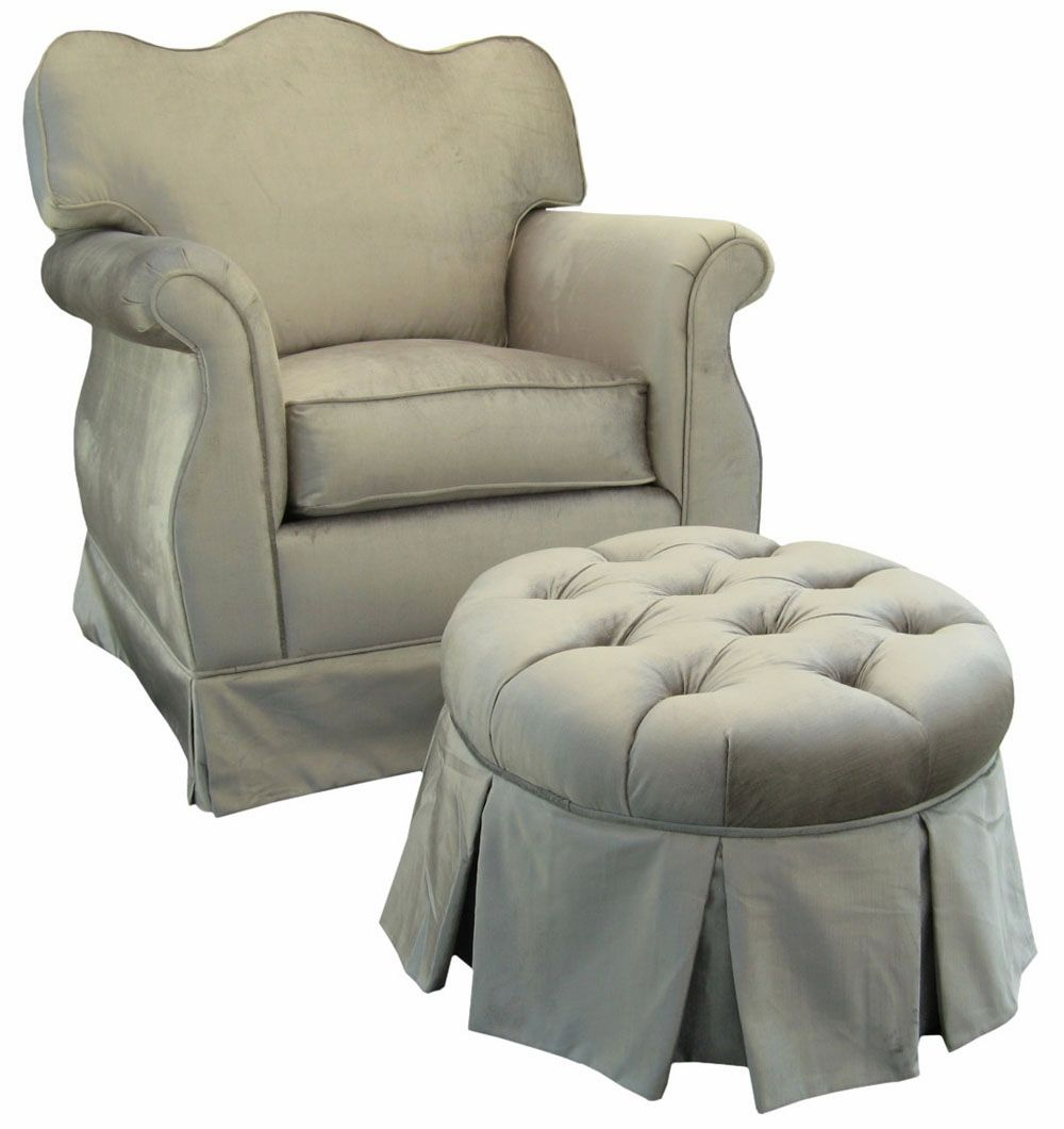 Mario Lopez Has This Silver Glider And Ottoman In His Baby Girl's For Mari Swivel Glider Recliners (Image 10 of 20)
