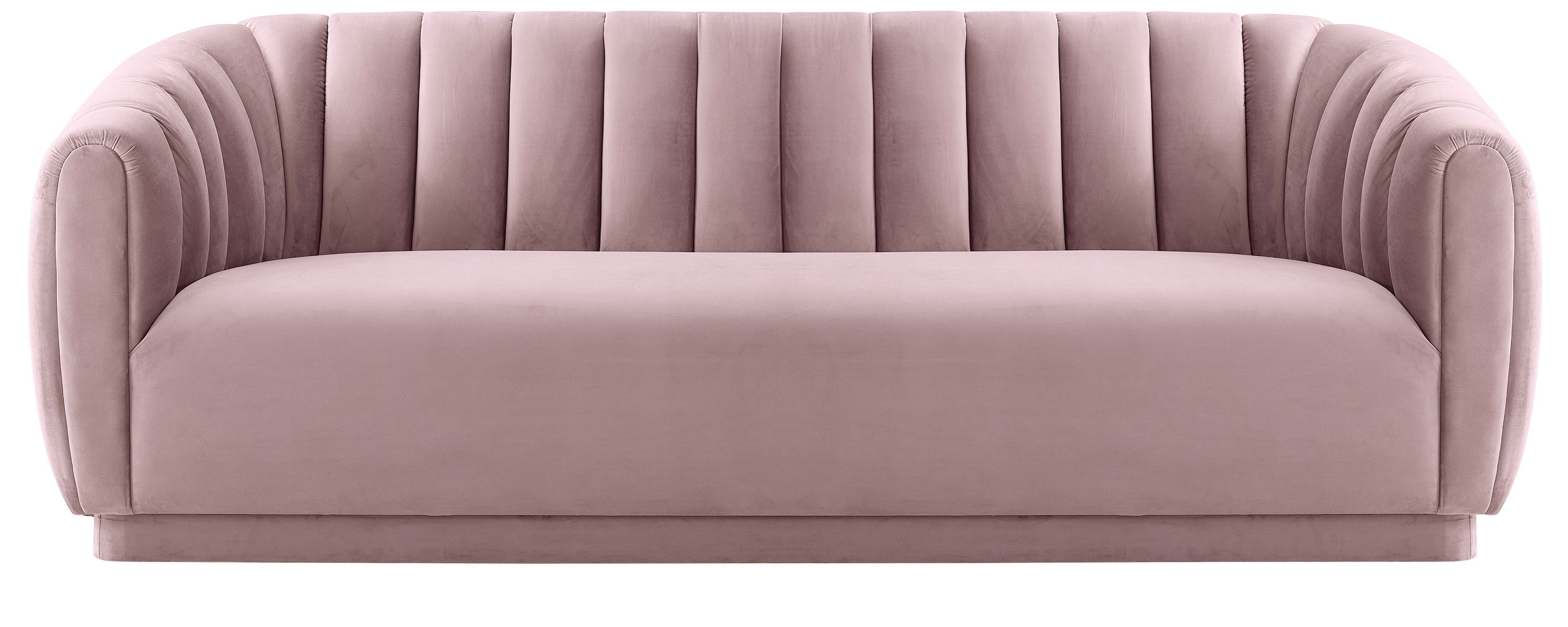 Marissa Velvet Sofa, Blush In Marissa Sofa Chairs (Image 17 of 20)