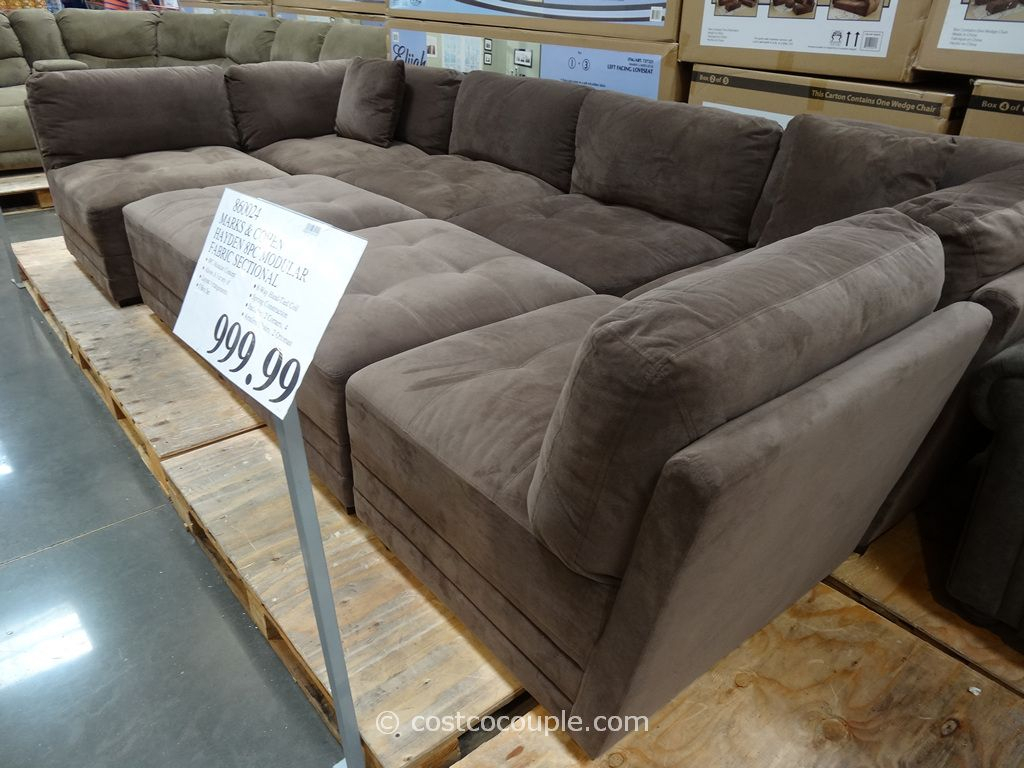 Marks And Cohen Hayden 8 Piece Modular Fabric Sectional Costco | For Inside Cohen Foam Oversized Sofa Chairs (View 4 of 20)