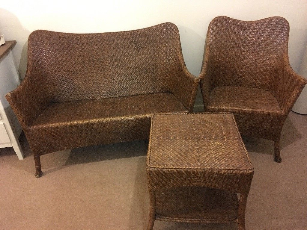 Marks And Spencer's Sofa, Chair And Table Herringbone Wicker. | In Throughout Karen Sofa Chairs (Photo 11 of 20)