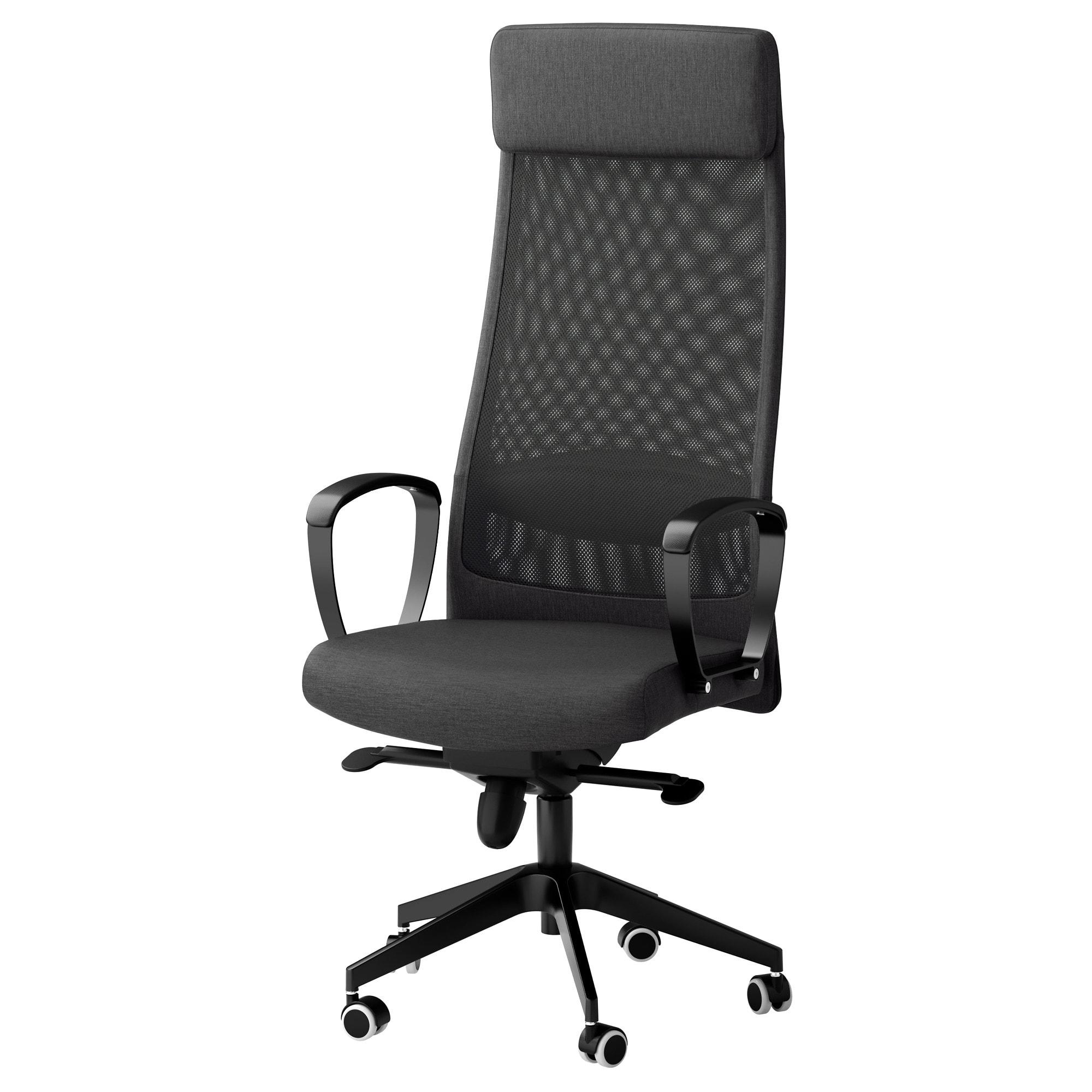 Markus Swivel Chair Vissle Dark Grey – Ikea Inside Dark Grey Swivel Chairs (Photo 17 of 20)