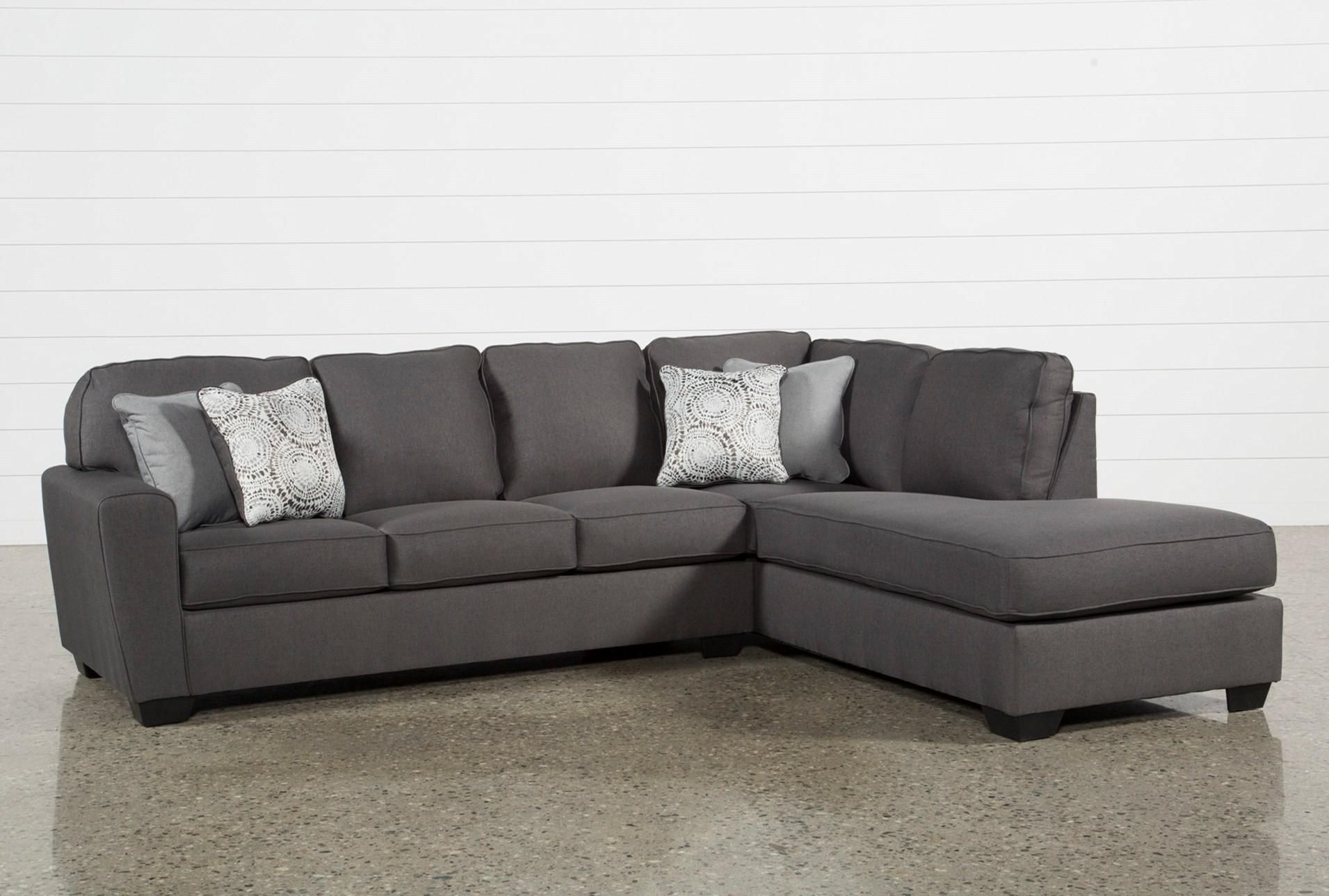 Mcdade Graphite 2 Piece Sectional W/raf Chaise | Livingroom | Living In Mcdade Ash Sofa Chairs (Photo 3 of 20)