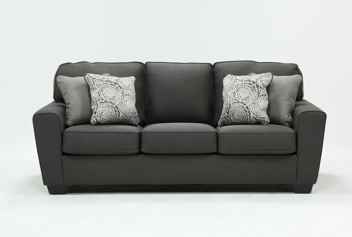 Mcdade Graphite Sofa | Living Spaces With Regard To Mcdade Graphite Sofa Chairs (Photo 1 of 20)