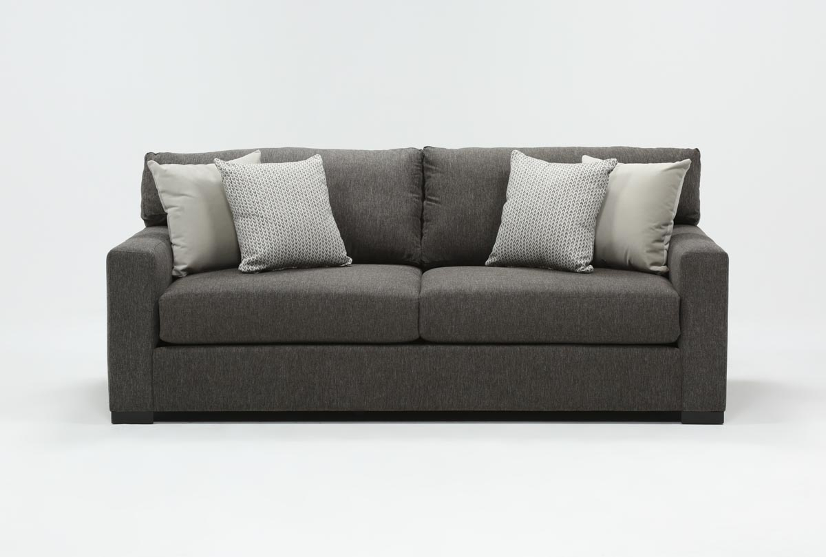 Mercer Foam Condo Sofa | Living Spaces For Mercer Foam Swivel Chairs (View 2 of 20)