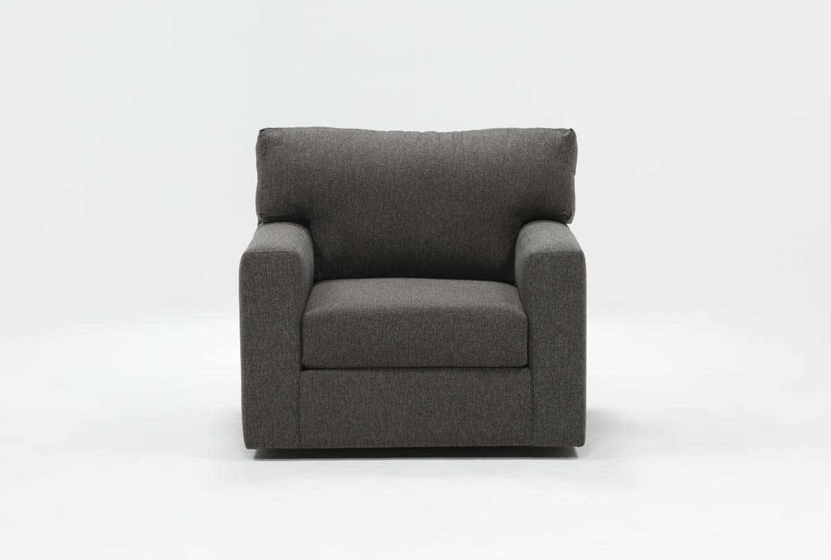 Mercer Foam Swivel Chair | Living Spaces With Mercer Foam Oversized Sofa Chairs (Image 8 of 20)