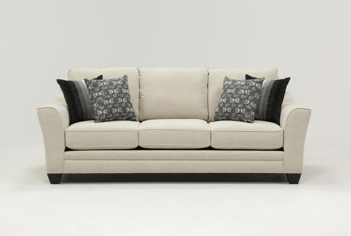 Mesa Foam Sofa | Living Spaces Intended For Cohen Foam Oversized Sofa Chairs (View 2 of 20)