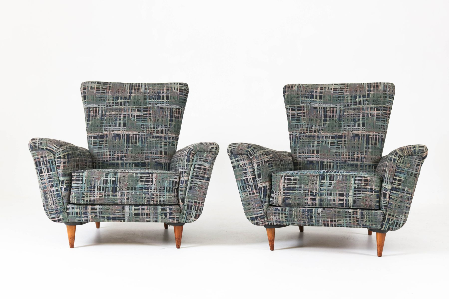 Mid Century Lounge Chairstheo Ruth For Artifort, 1950S, Set Of 2 Intended For Theo Ii Swivel Chairs (Photo 12 of 20)