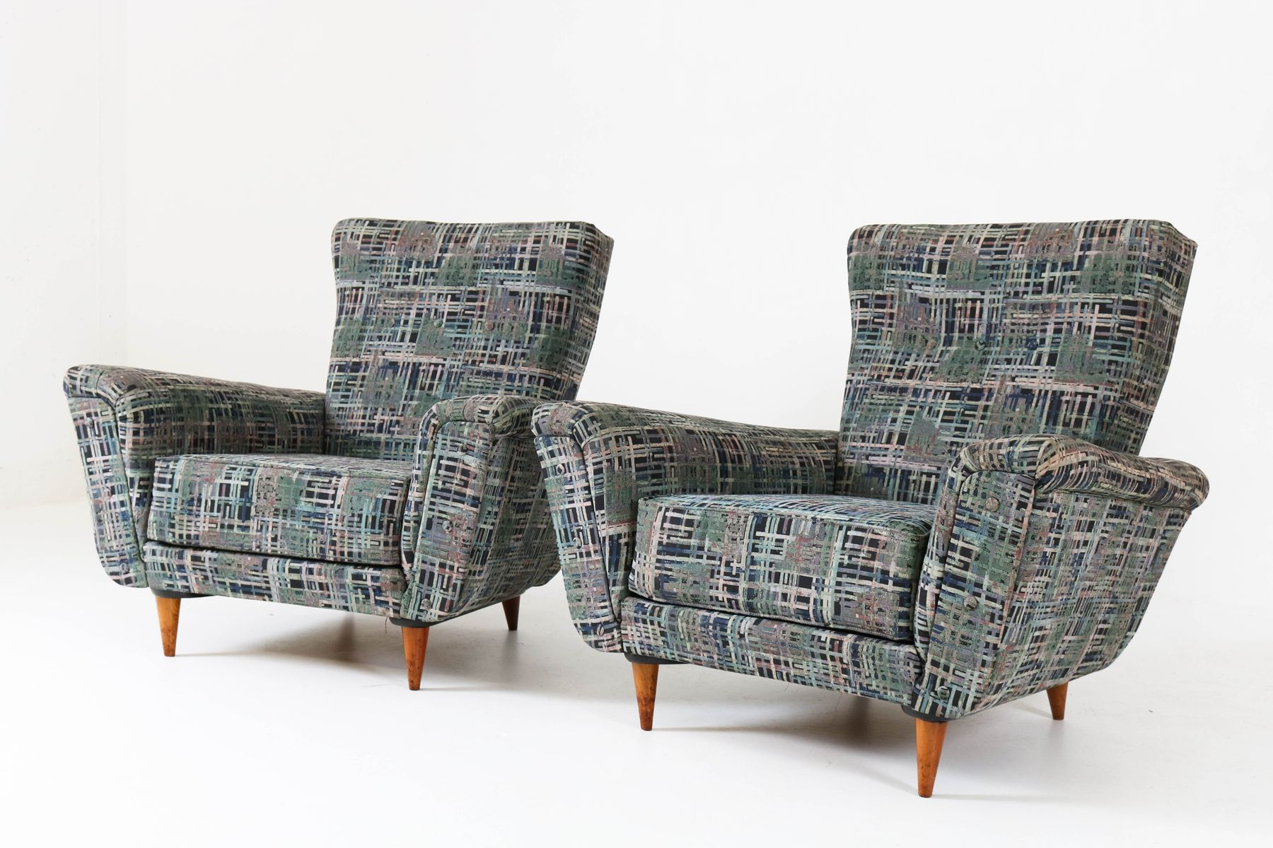 Mid Century Lounge Chairstheo Ruth For Artifort, 1950S, Set Of 2 Within Theo Ii Swivel Chairs (Image 7 of 20)