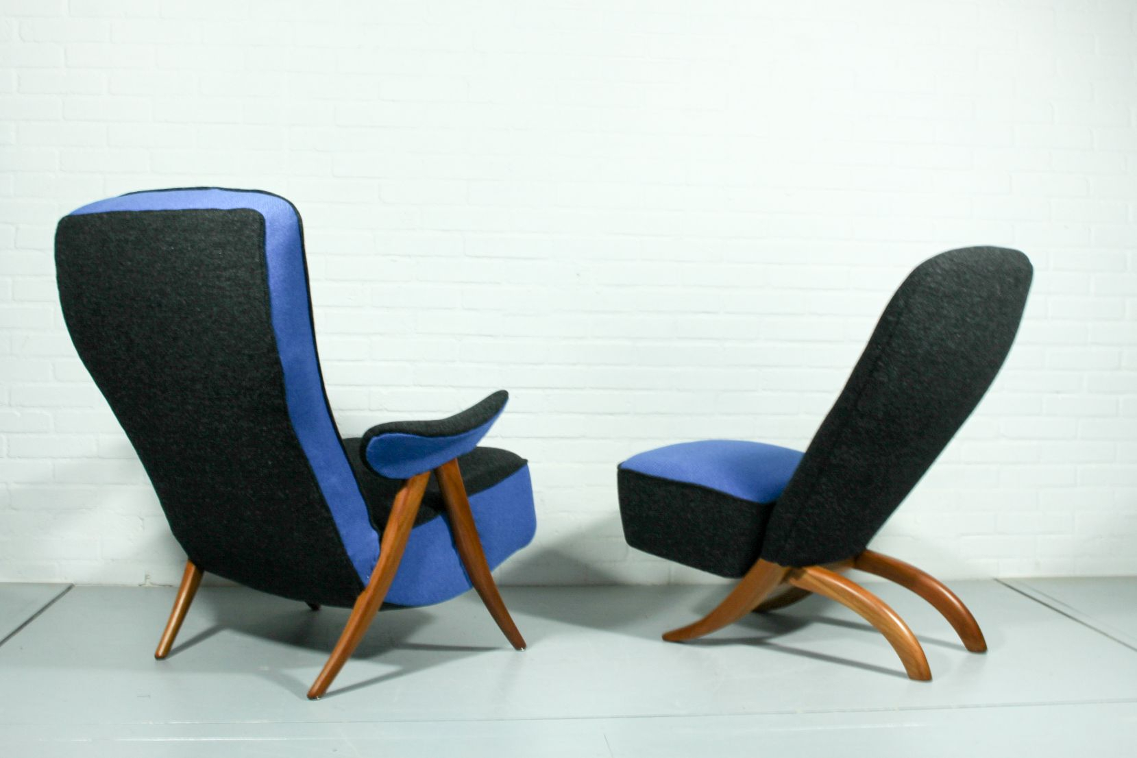 Mid Century Model 107 & Congo Lounge Chairstheo Ruth For Regarding Theo Ii Swivel Chairs (Image 8 of 20)