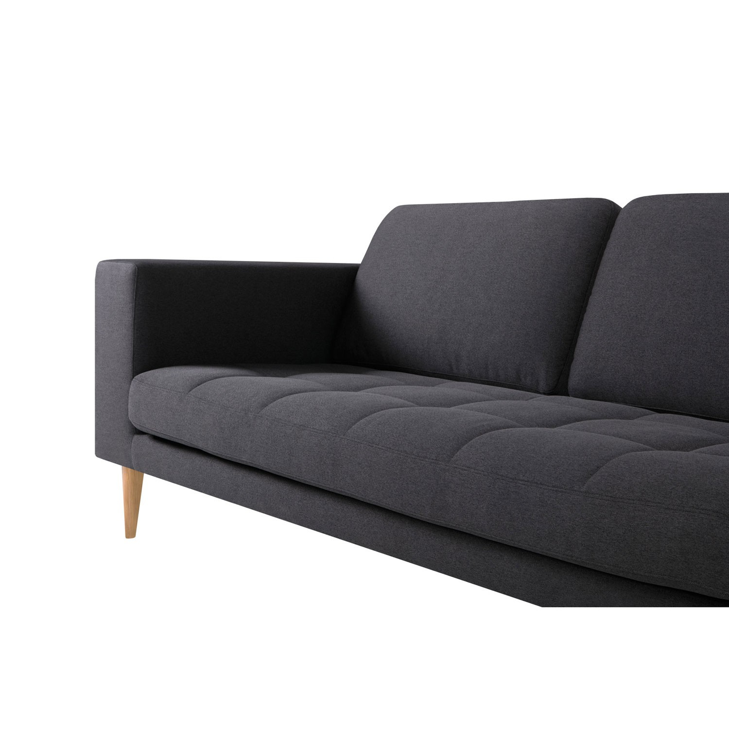 Milano 3 Seater Sofa | Aif London With London Dark Grey Sofa Chairs (Image 14 of 20)