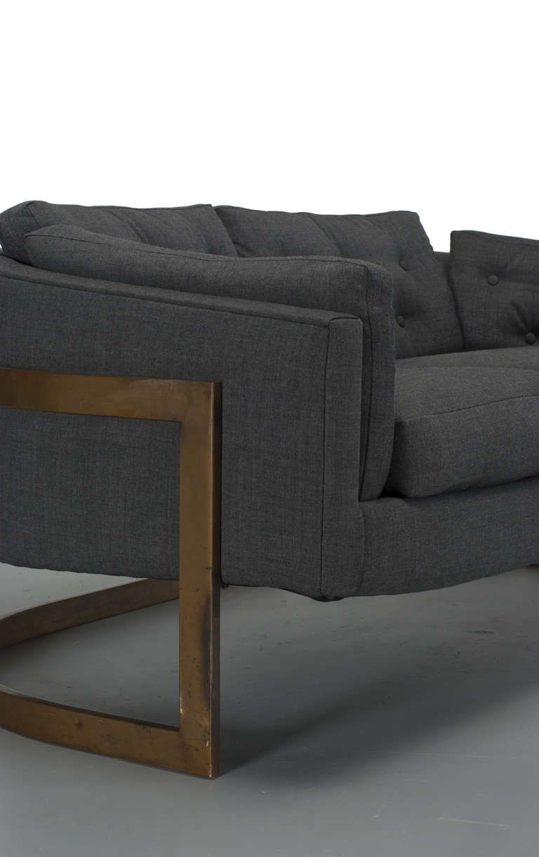 Milo Baughman Bronze Cantilever Sofa | Furniture – Sofas | Pinterest Pertaining To Milo Sofa Chairs (View 2 of 20)