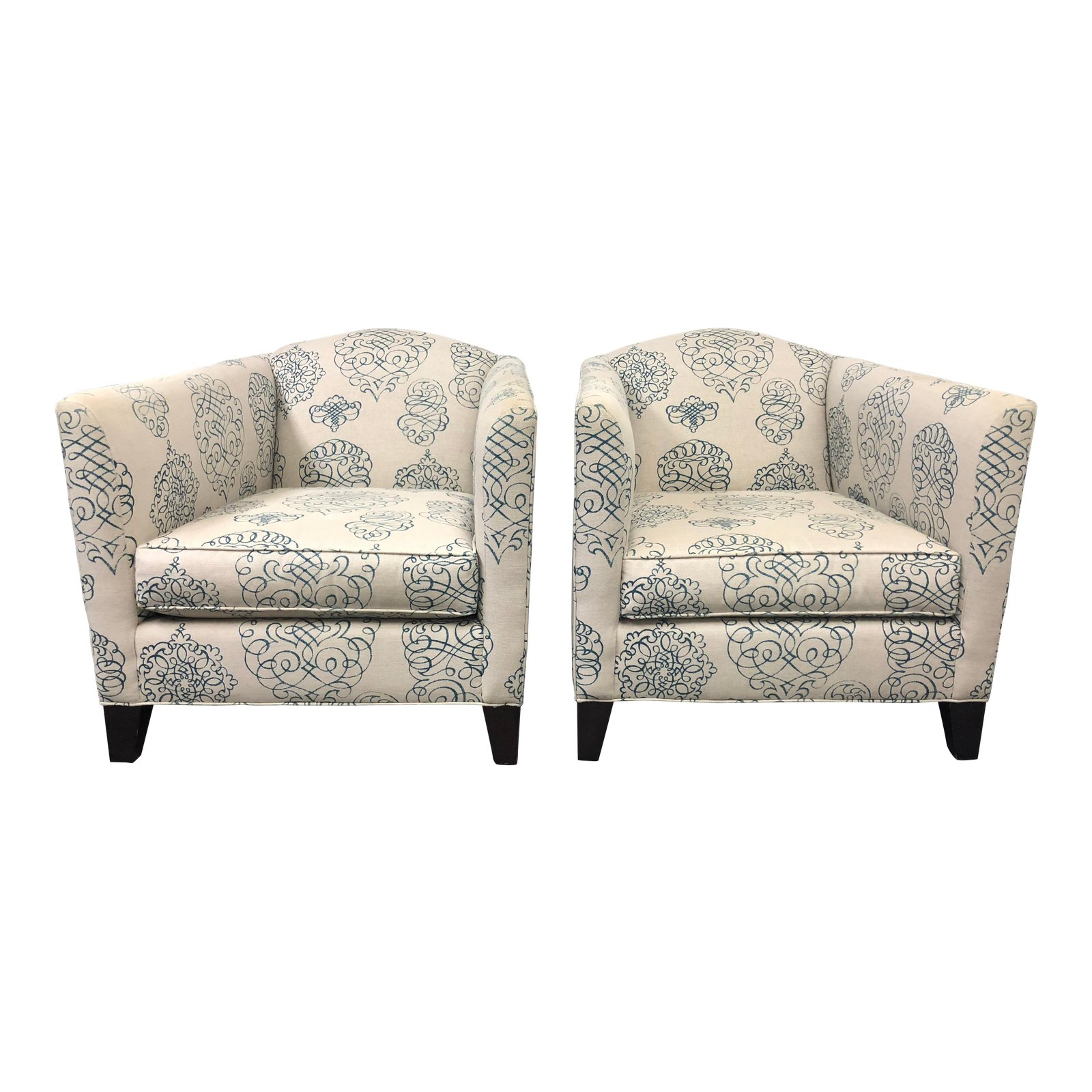 Mitchell Gold Celia Arm Chairs, A Pair. Original Price: $3, (Image 17 of 20)