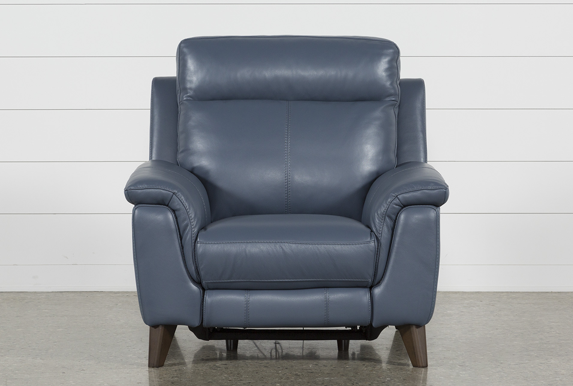 Moana Blue Leather Power Reclining Chair With Usb In 2018 | Products With Moana Blue Leather Power Reclining Sofa Chairs With Usb (View 2 of 20)