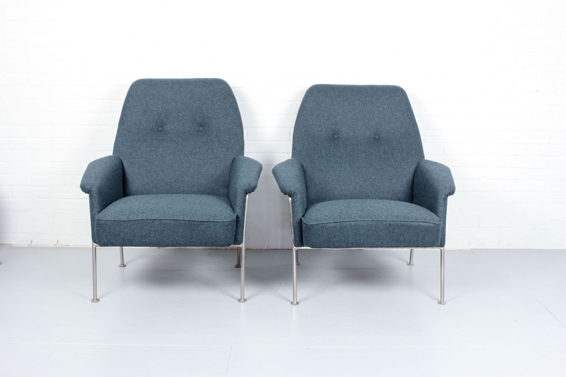 Model 162 Lounge Chairstheo Ruth For Artifort, 1950S, Set Of 2 Within Theo Ii Swivel Chairs (Image 10 of 20)