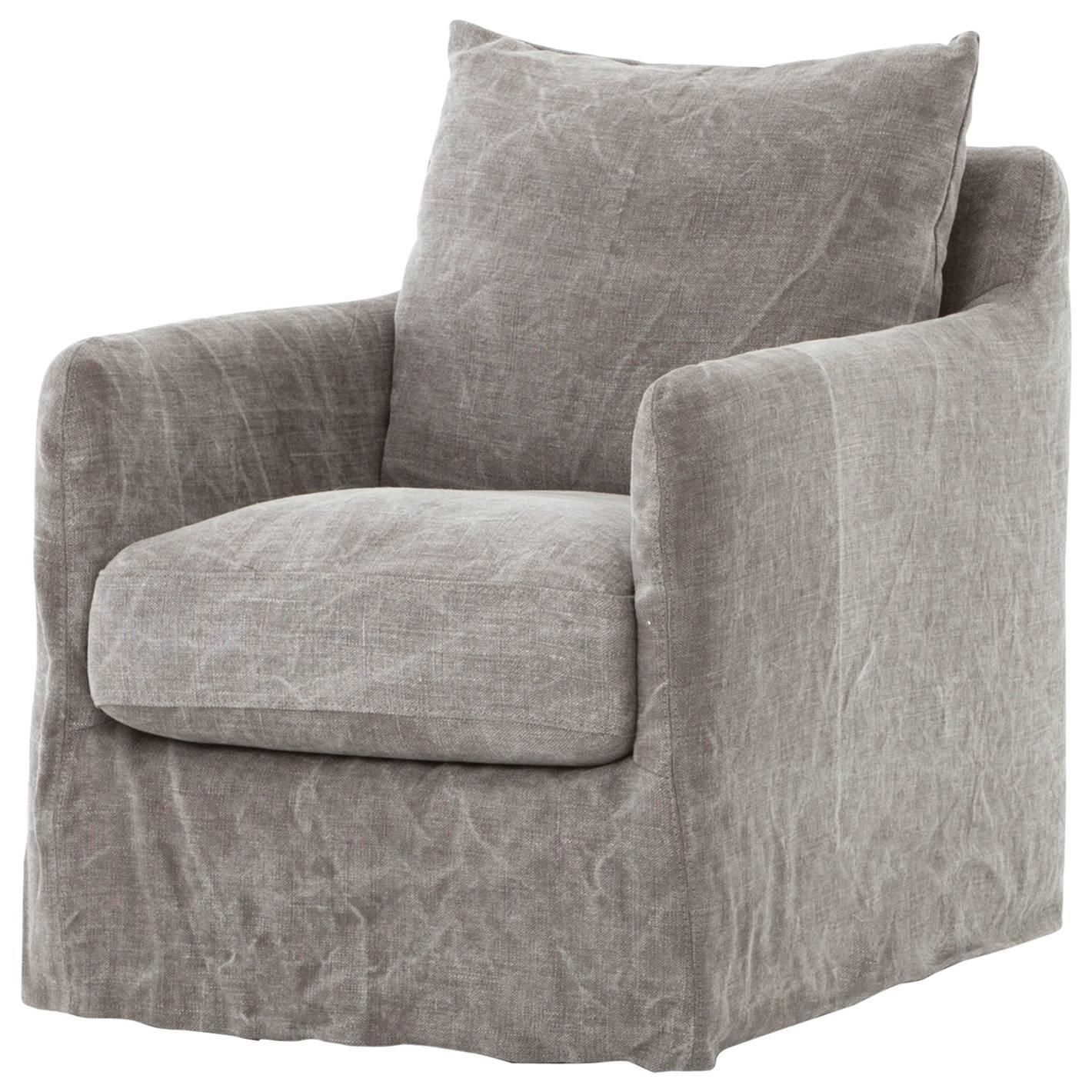 Modern Slipcovered Swivel Chair | Home Decor | Pinterest | Swivel In Nichol Swivel Accent Chairs (Photo 8 of 20)
