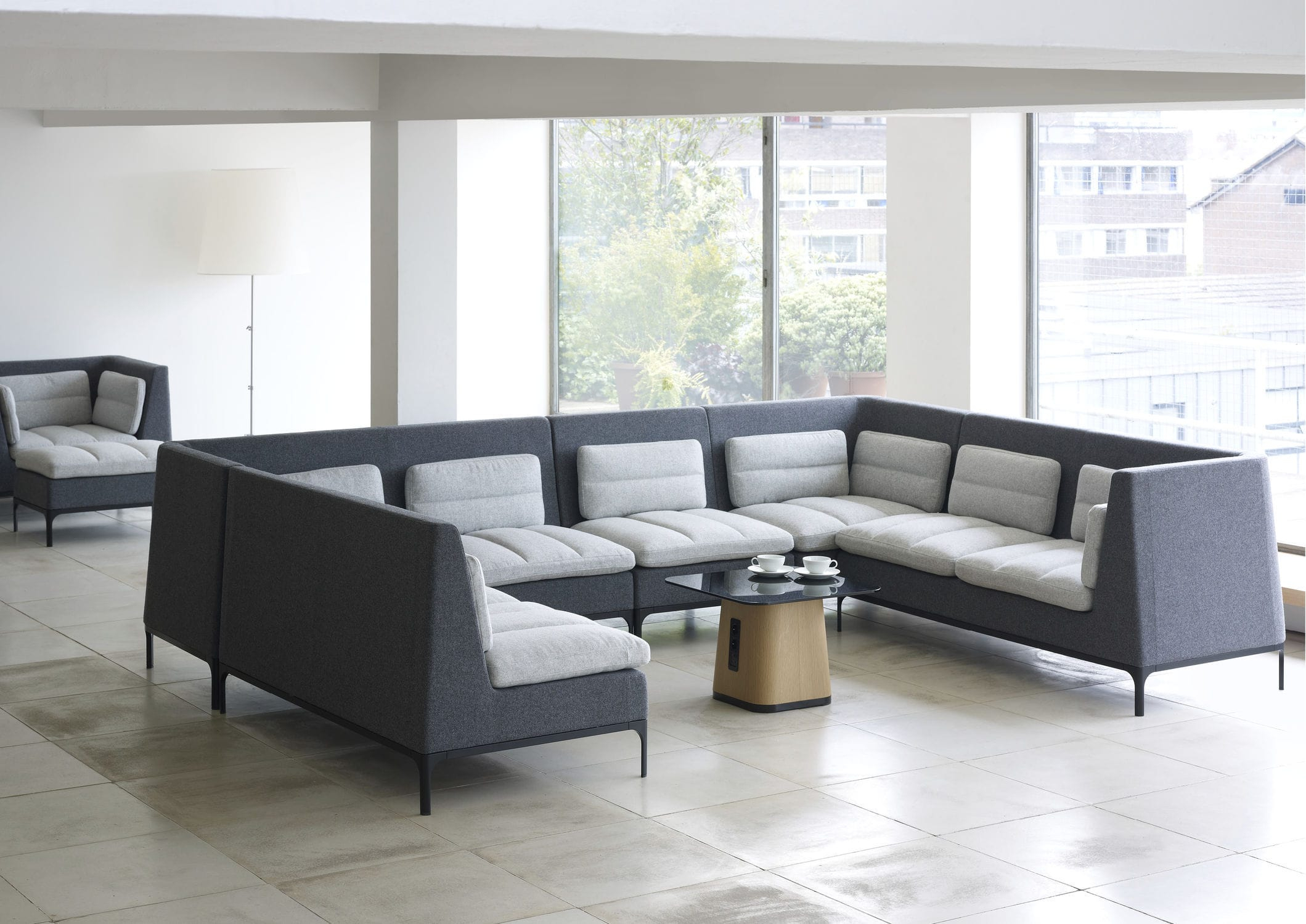 Modular Sofa / Contemporary / Aluminum / Fabric – Havenmark For Haven Sofa Chairs (Image 13 of 20)