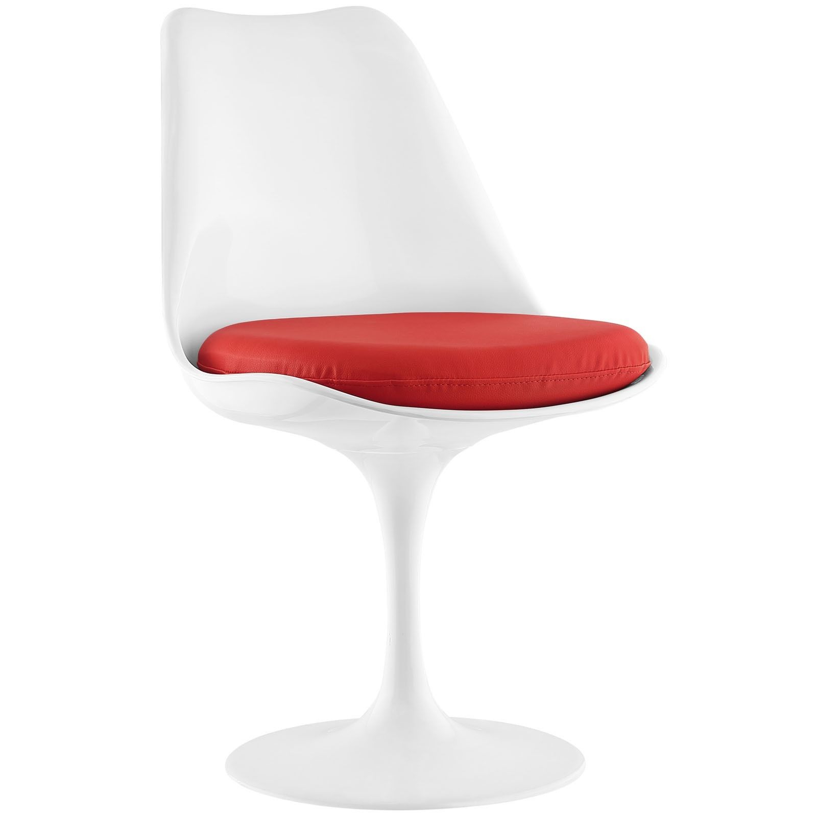 Modway Lippa Vinyl Dining Side Chair (Red) (Plastic) | Products Pertaining To Circuit Swivel Accent Chairs (Image 11 of 20)