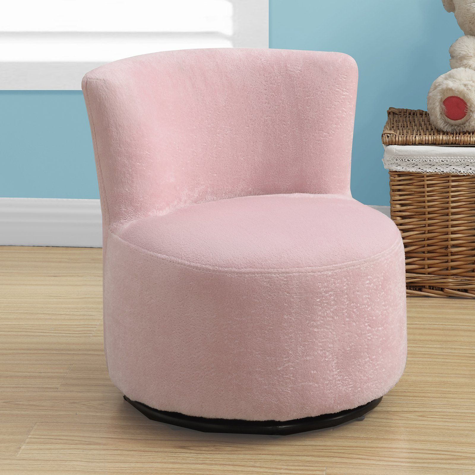 Monarch Kids Swivel Chair – Fuzzy Pink In 2018 | Products Throughout Twirl Swivel Accent Chairs (Photo 14 of 20)