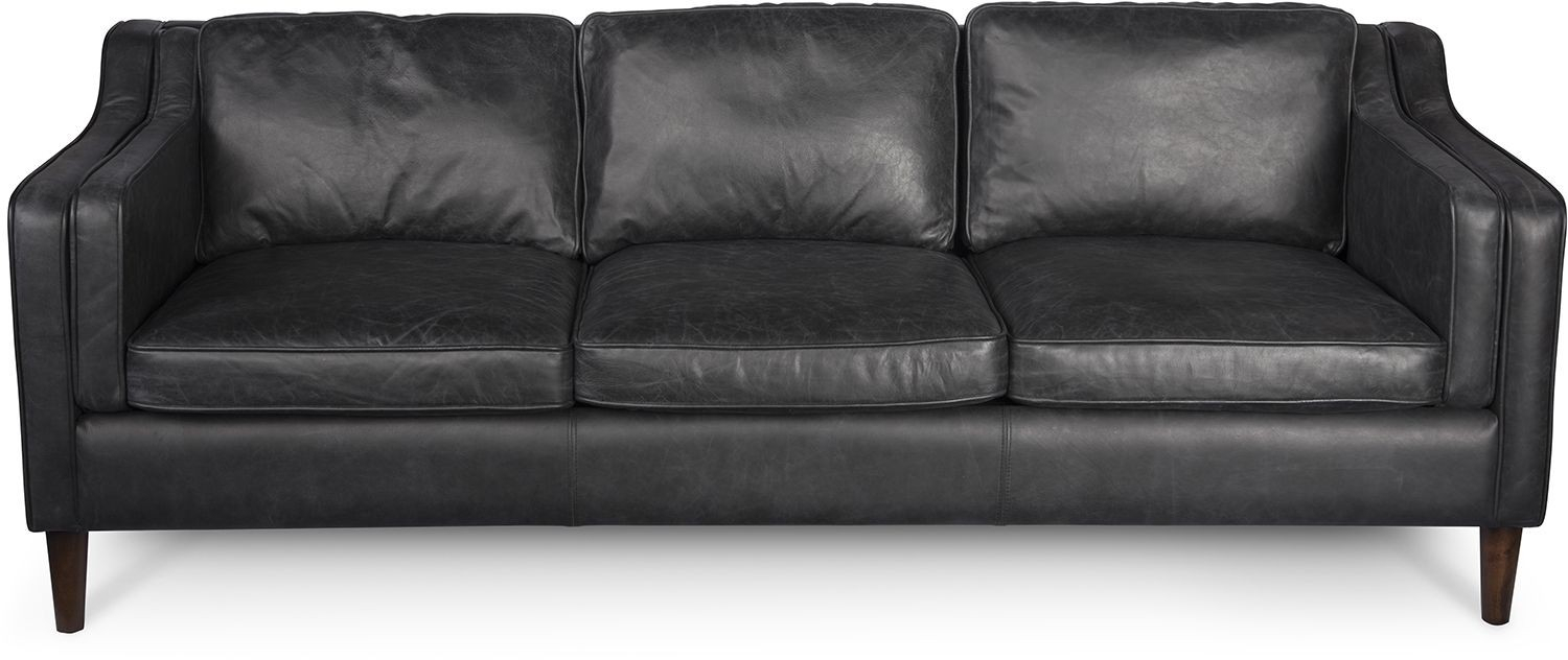 Morgan Sofa Oxford Black In Gina Blue Leather Sofa Chairs (Image 17 of 20)
