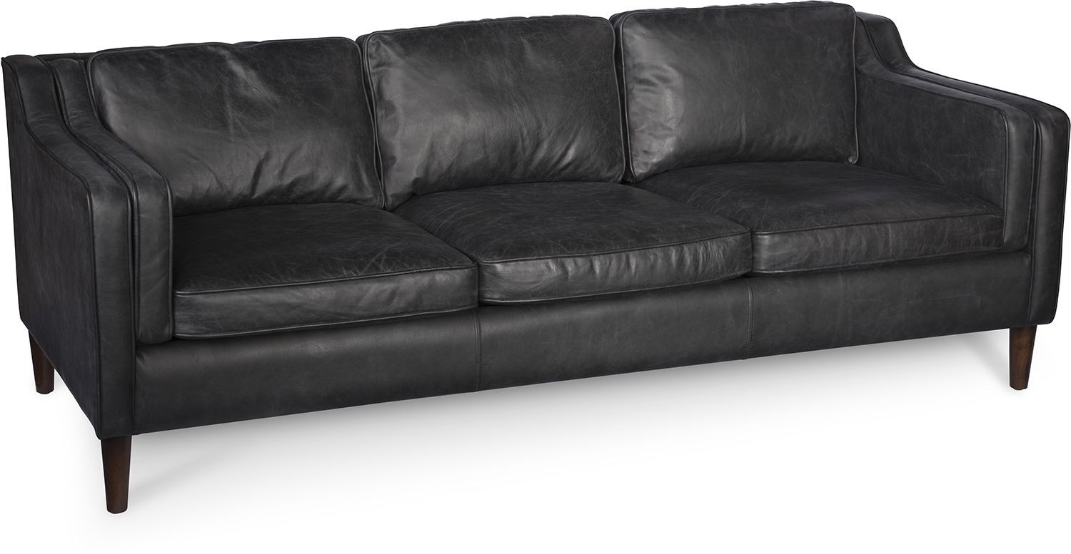 Morgan Sofa Oxford Black Intended For Gina Blue Leather Sofa Chairs (Image 18 of 20)