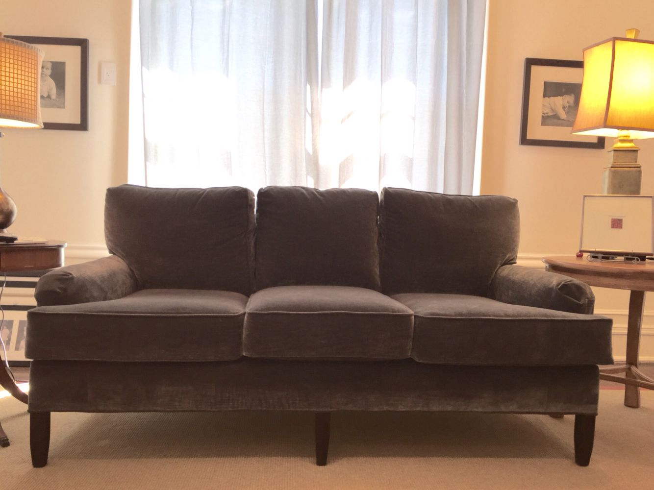 My Contribution To The Graphite Velvet Sofa Collection  Sofa In In Mansfield Graphite Velvet Sofa Chairs (Image 12 of 20)