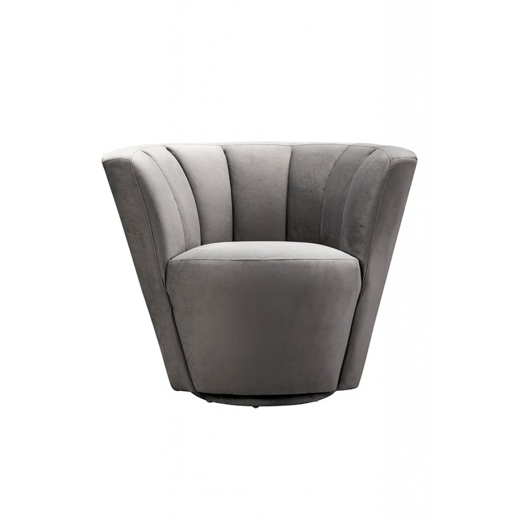 My Furniture – Lorianna Armchair/ Mid Century Armchair / Shell Chair Throughout Grey Swivel Chairs (Image 12 of 20)