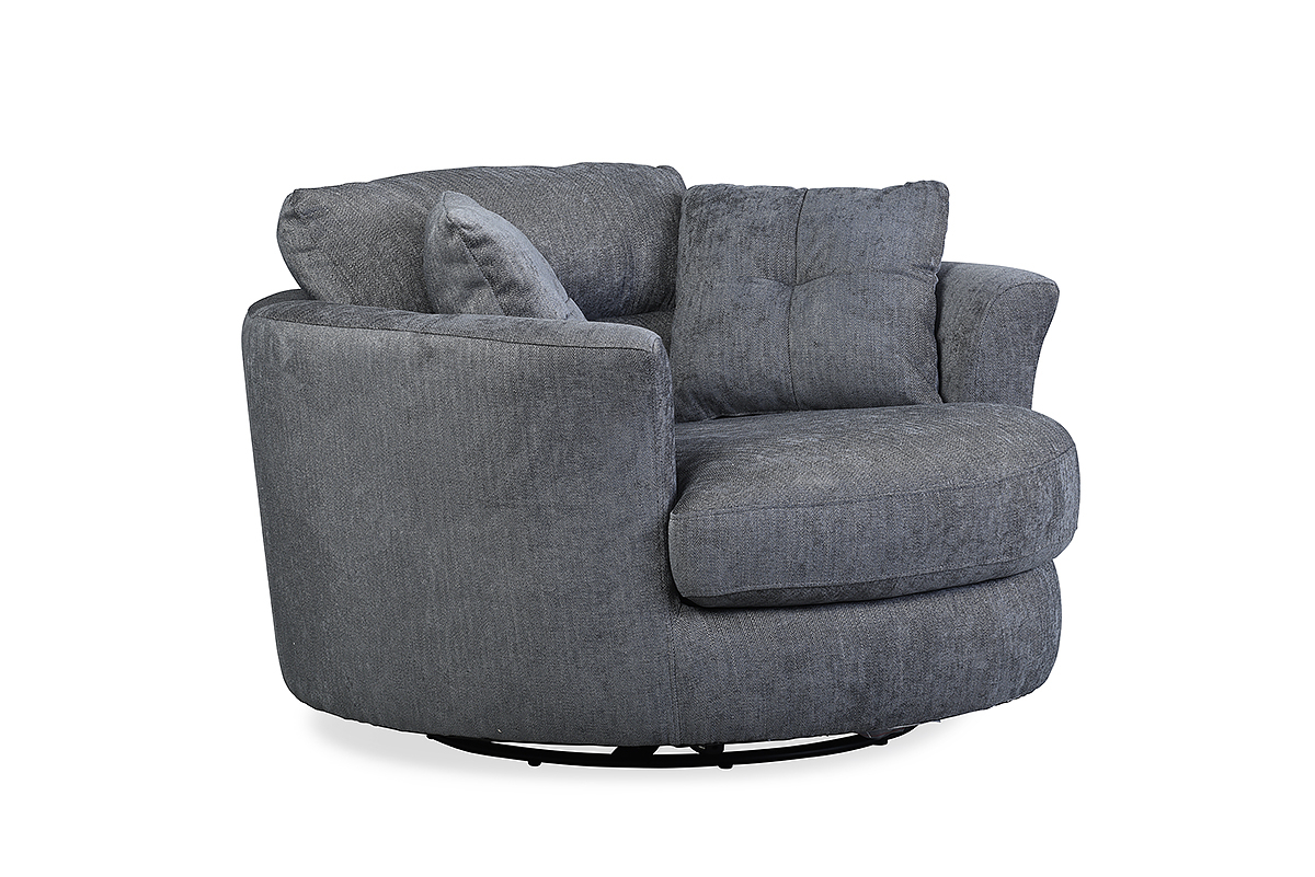 Nelson Swivel Chair Charcoal – Furniture Stores Ireland With Regard To Charcoal Swivel Chairs (View 9 of 20)