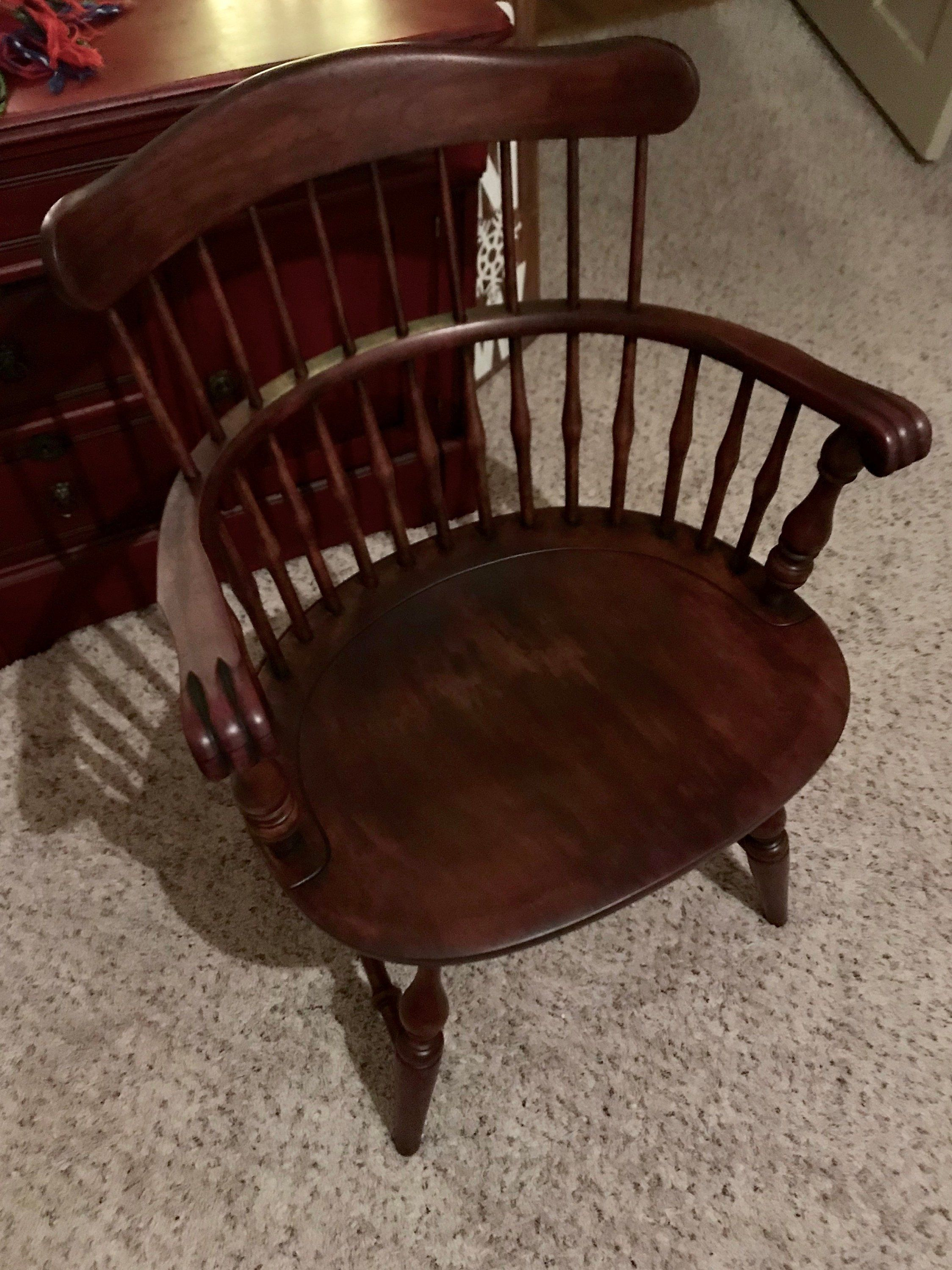Nichols And Stone, Farmhouse Chair, Country Chair, Windsor Chair Throughout Nichol Swivel Accent Chairs (Image 14 of 20)