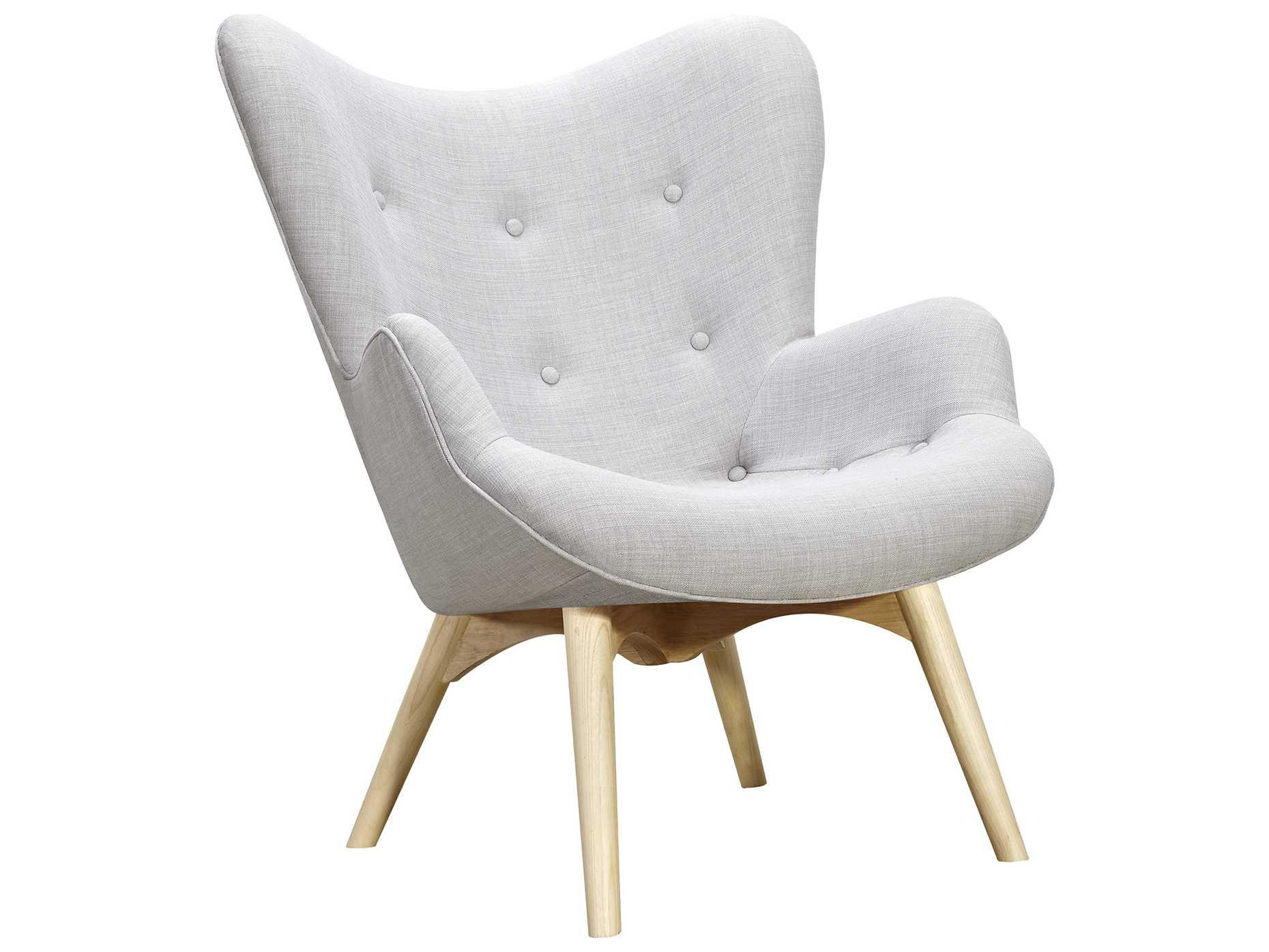 Nyekoncept Aiden Glacier White Accent Chair & Ottoman With Natural Inside Aidan Ii Swivel Accent Chairs (View 19 of 20)