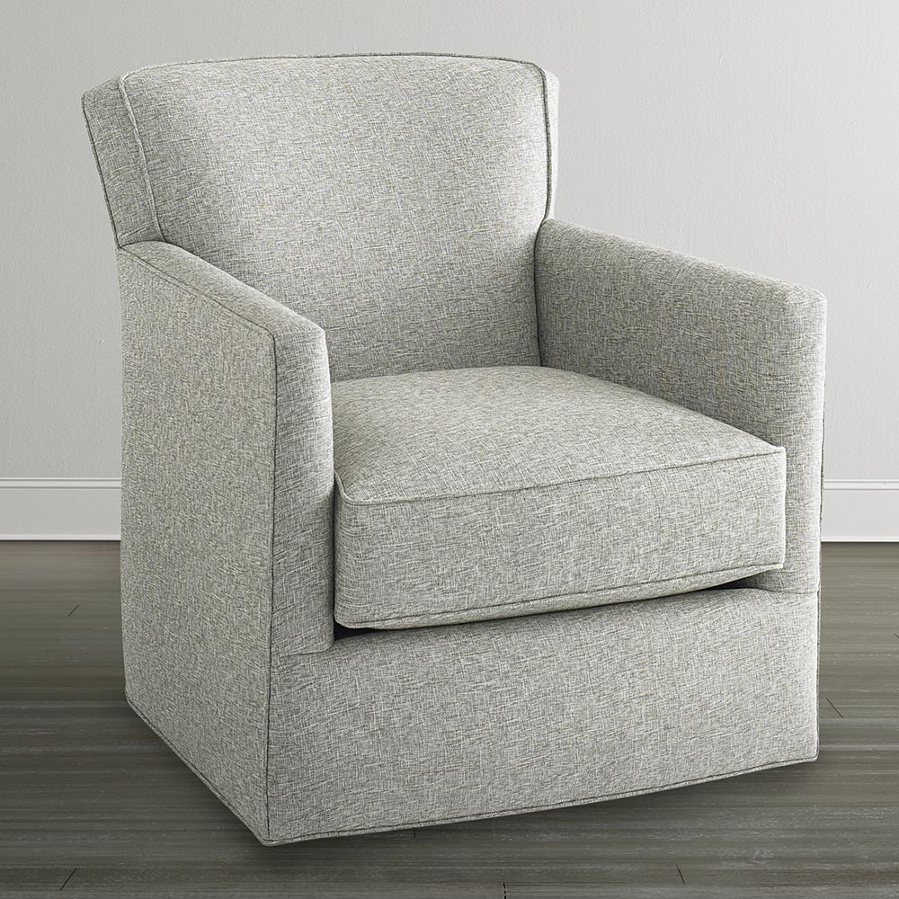 Off White Swivel Glider Chair Throughout Harbor Grey Swivel Accent Chairs (Image 16 of 20)