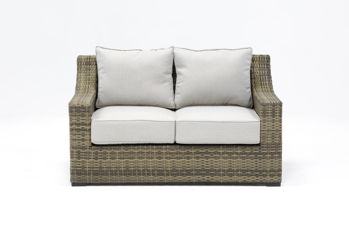 Outdoor Aventura Loveseat | Living Spaces With Outdoor Koro Swivel Chairs (View 11 of 20)