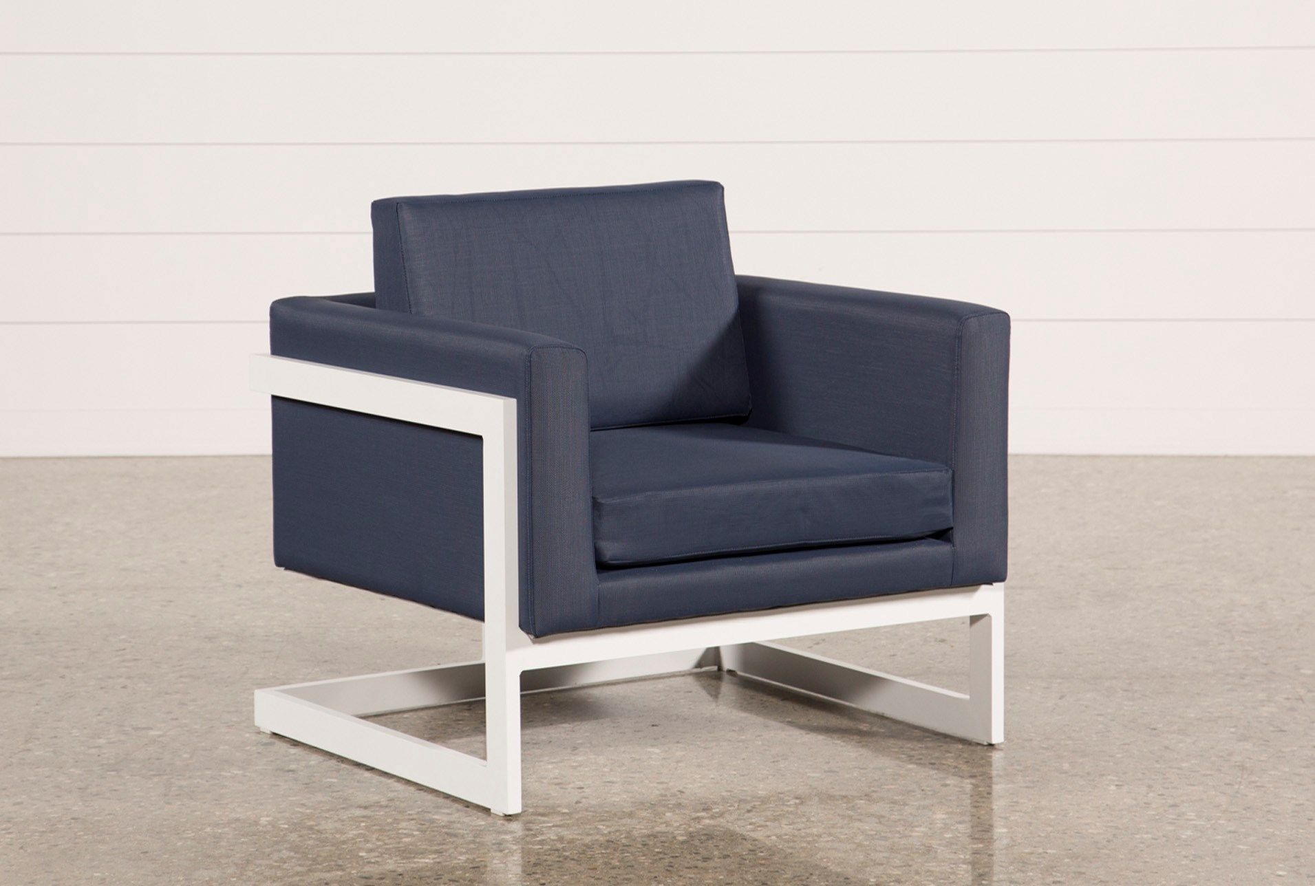 Outdoor Biscayne Ii Navy Lounge Chair | Patio | Pinterest | Patios With Outdoor Koro Swivel Chairs (View 2 of 20)