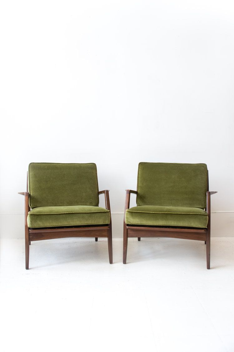 Pair Of Reupholstered Kofod Larsen For Selig Lounge Chairs In 2018 In Gwen Sofa Chairs By Nate Berkus And Jeremiah Brent (Photo 8 of 20)