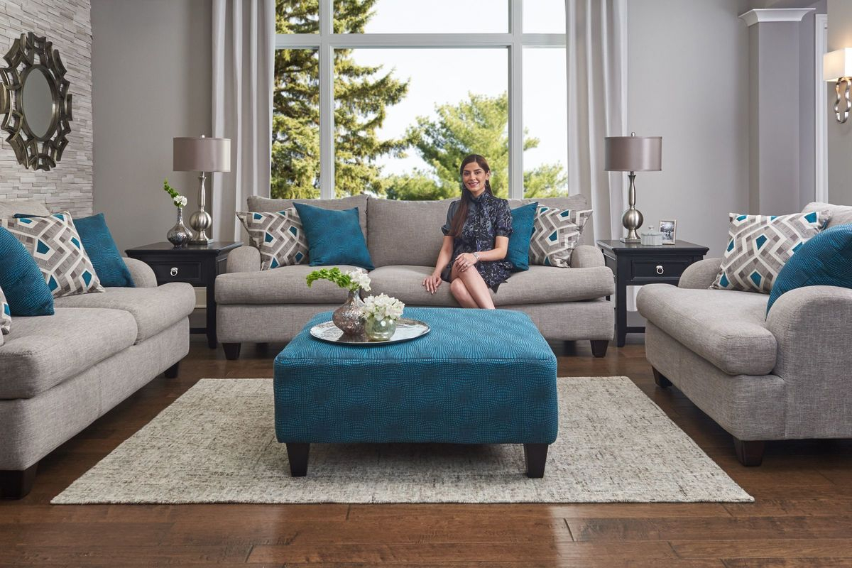 Paradise Ottoman In Jade At Gardner White For Allie Jade Sofa Chairs (Photo 6 of 20)